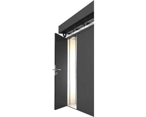 Porte supplémentaire CasaNova gauche, 95x200 cm, gris foncé métallique