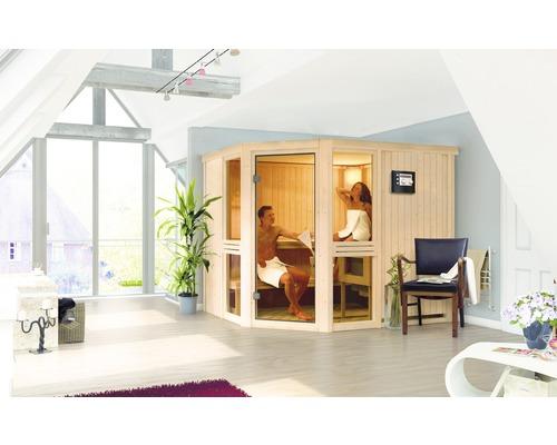 Sauna modulaire Karibu Omelia 3 sans poêle ni toit