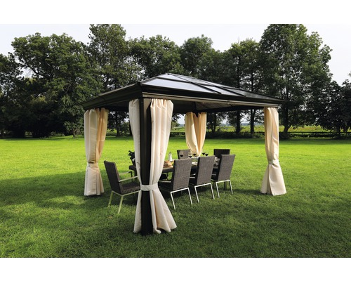 pavillon sinaia 4 x 4 m brun hornbach luxembourg. Black Bedroom Furniture Sets. Home Design Ideas