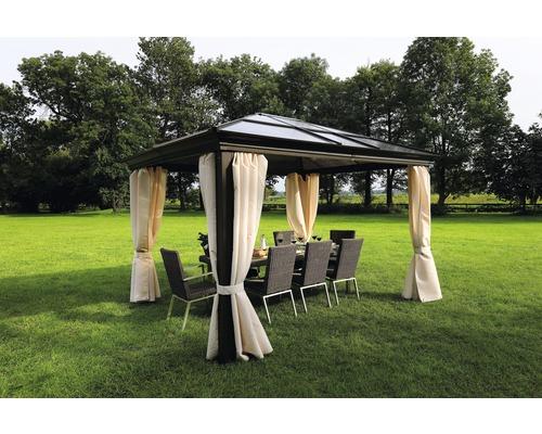 pavillon sinaia 3 65 x 3 m brun hornbach luxembourg. Black Bedroom Furniture Sets. Home Design Ideas