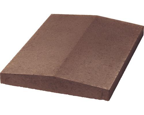 Dessus de muret 2 pentes brun 30,0 x 3,5-5,5-3,5 x 49,0cm