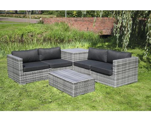 Set de meubles de salon de jardin madrid rotin synth tique - Meuble de jardin rotin synthetique ...