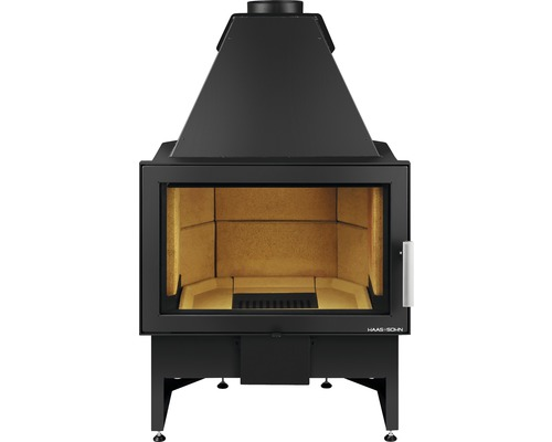 Insert de cheminée Haas & Sohn Komfort IV noir 8 kW