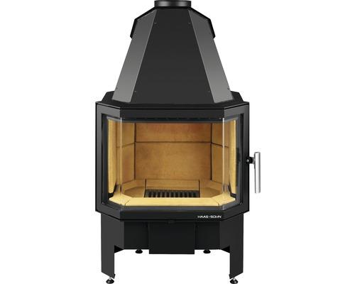 Insert de cheminée Haas & Sohn Prestige II noir 8 kW
