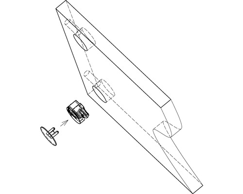 Capuchon de recouvrement pour excentrique 25 mm blanc 100 unités