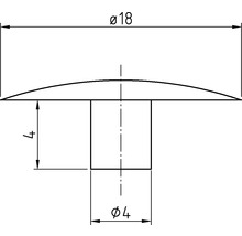 Capuchon de recouvrement SW 4x18 mm blanc 100 unités-thumb-3