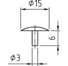 Capuchon de recouvrement 3x15 mm blanc 100 unités-thumb-2