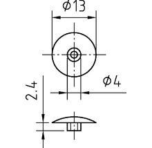 Capuchon de recouvrement SW 4, 4x13 mm blanc 100 unités-thumb-2