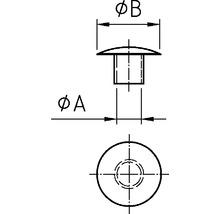 Cache de recouvrement 10x13 mm blanc 100 unités-thumb-2