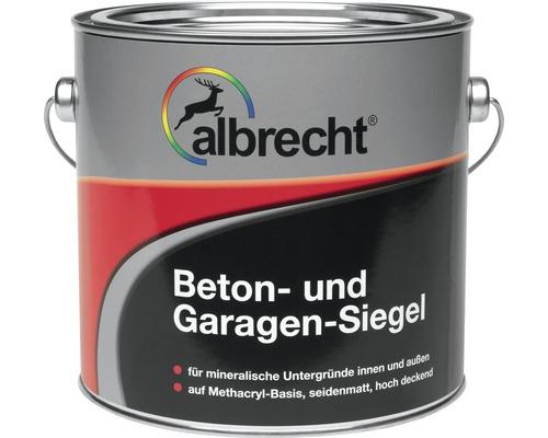 Couche d''étanchéité pour garage couleur béton Albrecht RAL 7032 gris silex 5l