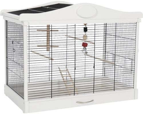 Cage pour oiseaux Lena, noir-blanc