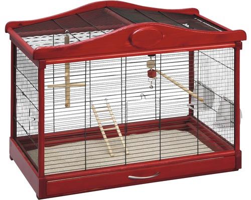 Cage pour oiseaux Lena, noir-rouge