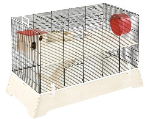 Cage pour rongeurs Skyline Ulli 74x37x48 cm noir et blanc