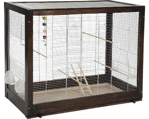 Cage à oiseaux Diana 99x52x80 cm wengé