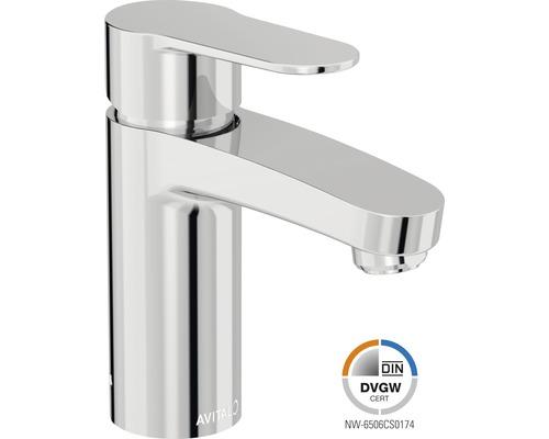 Mitigeur de lavabo AVITAL Kara chrome, mécanisme de vidage inclus