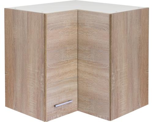 Armoire suspendue d''angle Centa Murano/Samoa Sonoma chêne (lxHxp) 60x55x32 cm