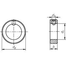 Bague de réglage Forme A 6mm avec tige filetée DIN 554-thumb-1