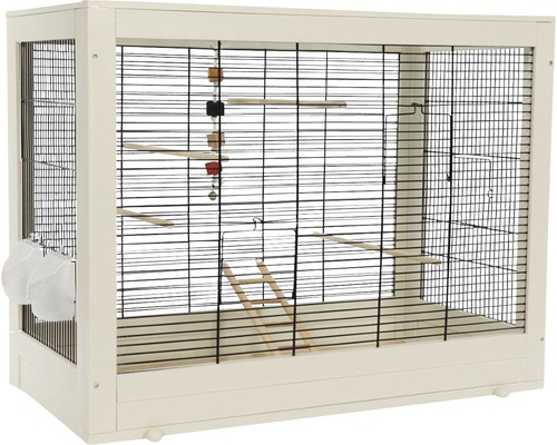 Cage pour oiseaux Mara, blanc