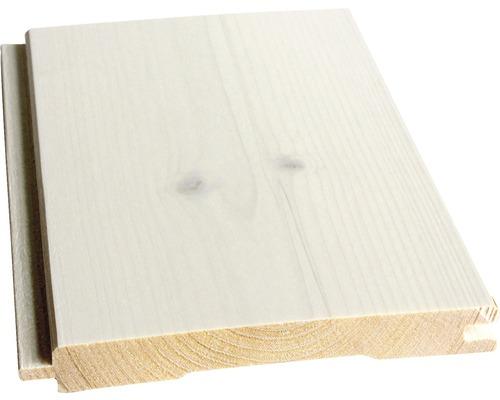 Profilé en biseau Konsta épicéa A blanc 14x121x2400 mm