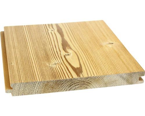 Planche rainure et languette Konsta Thermo en épicéa structuré 20.5x192x4150mm