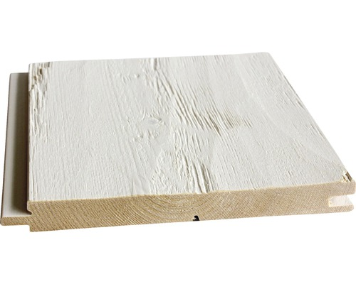 Profilé en biseau Konsta épicéa haché blanc 21x195x2650 mm