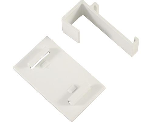 Set de collage et de serrage blanc pour stores