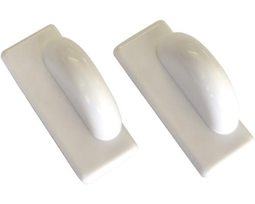Plaques de maintien magnétiques blanches pour stores en alu Lot de 2