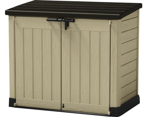 Caisse à outils de jardinage Store-it-out avec pistons à gaz 146 x 82 x 125 cm marron/beige