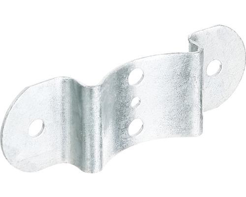 Ferrure avec tige de verrouillage pour clôture 40x121mm, galvanisée à chaud