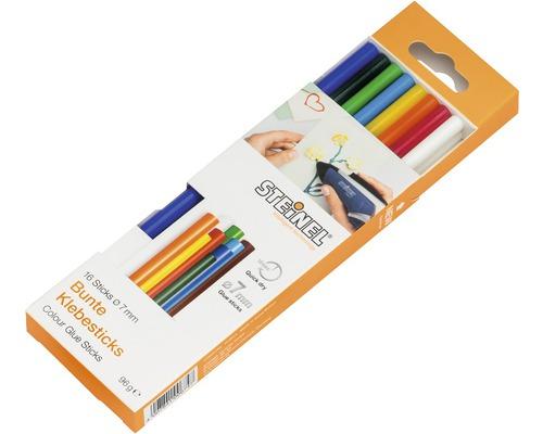 Bâtons de colle Steinel Ø 7mm Color pack de 16