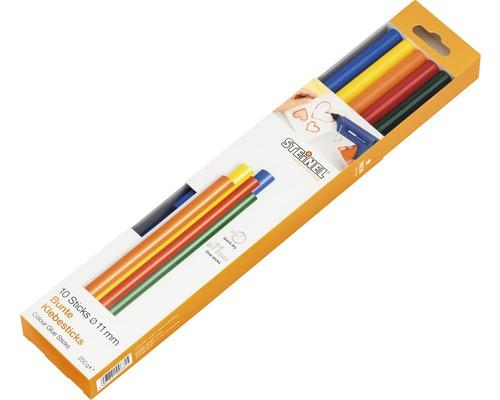 Bâtons de colle Steinel Ø 11mm Color pack de 10
