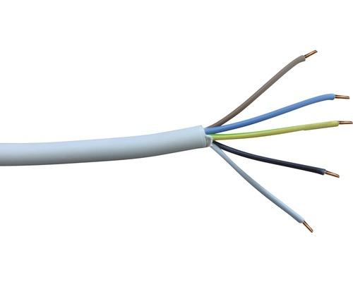 Câble électrique sous gaine NYM-J 5x2,5mm² 100m gris