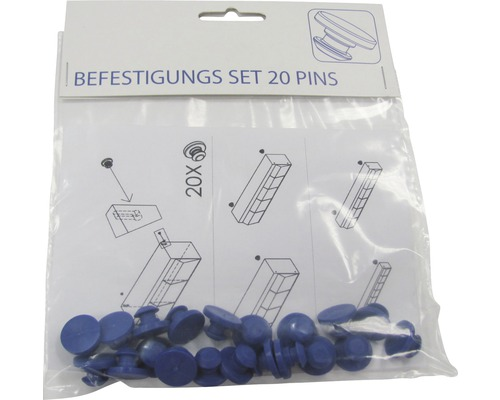 Kit de fixation pack de 20 attaches pour boîte à petites pièces