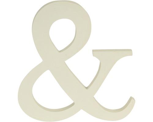 """Élément décoratif """"&"""" blanc 20x20 cm"""