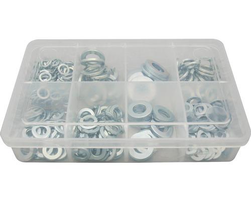 Kit de rondelles galvanisées 250 pièces