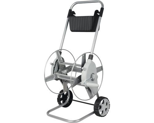 """Chariot dévidoir en métal for_q, 60m 1/2"""", sans tuyau"""