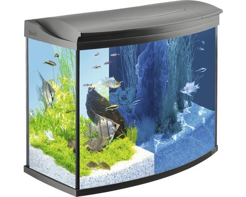 Aquarium Tetra AquaArt Evolution Line 130 l avec éclairage LED, filtre, chauffage sans meuble bas noir