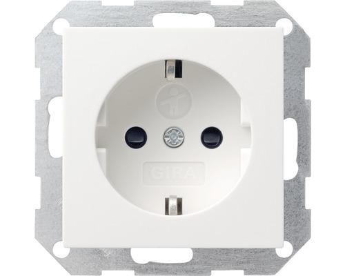 Insert de prise de courant avec protection de contact renforcée Gira Standard 55 blanc pur/mat