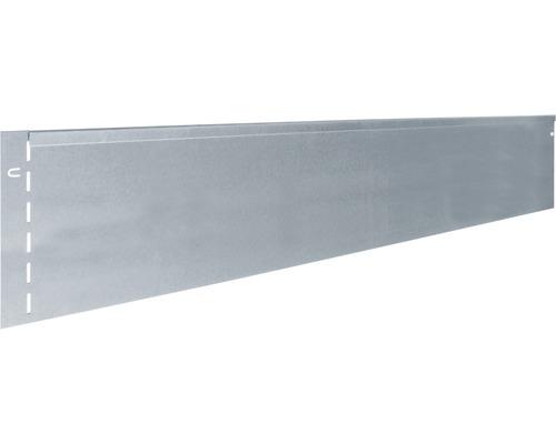 Bordure de gazon metall 118x20cm, galvanisée