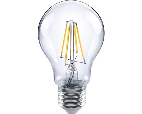 Ampoule LED FLAIR E27/4(40)W A60 à filament transparent 470lm 2700K blanc chaud
