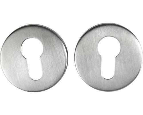 Kit de rosettes pour serrures à cylindre profilé en acier inoxydable