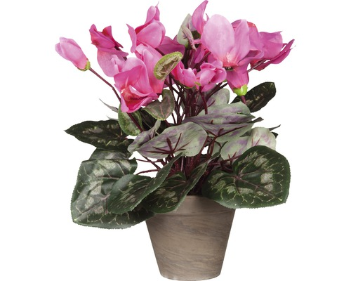 Fleur artificielle Cyclamen, rose