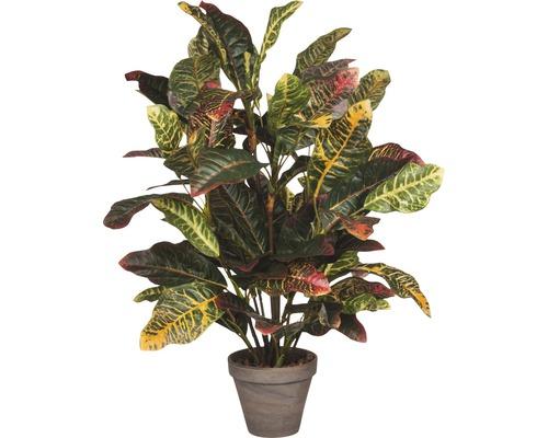 Plante artificielle Croton, gris