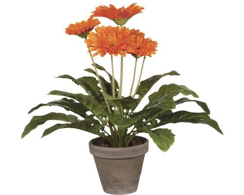 Fleur artificielle Gerbera, orange