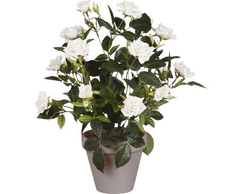 Fleur artificielle Rose Ø 25 cm, blanc
