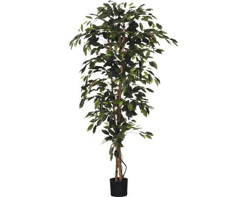 Plante artificielle Ficus Benjamina, vert