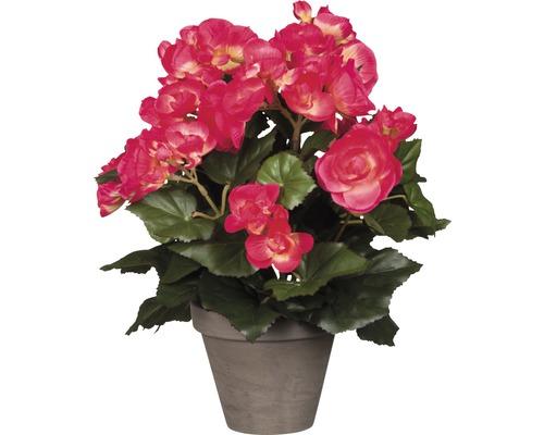 Fleur artificielle Bégonia, rose