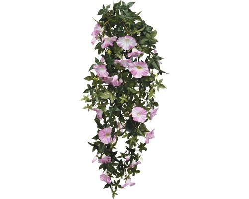 Fleur artificielle Pétunia suspendue profondeur 80 cm, rose
