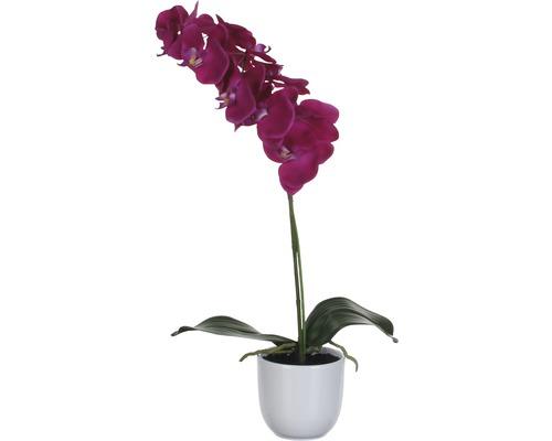 Fleur artificielle Orchidée 60 cm, violet