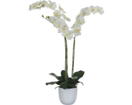 Fleur artificielle Orchidée 100 cm, blanc